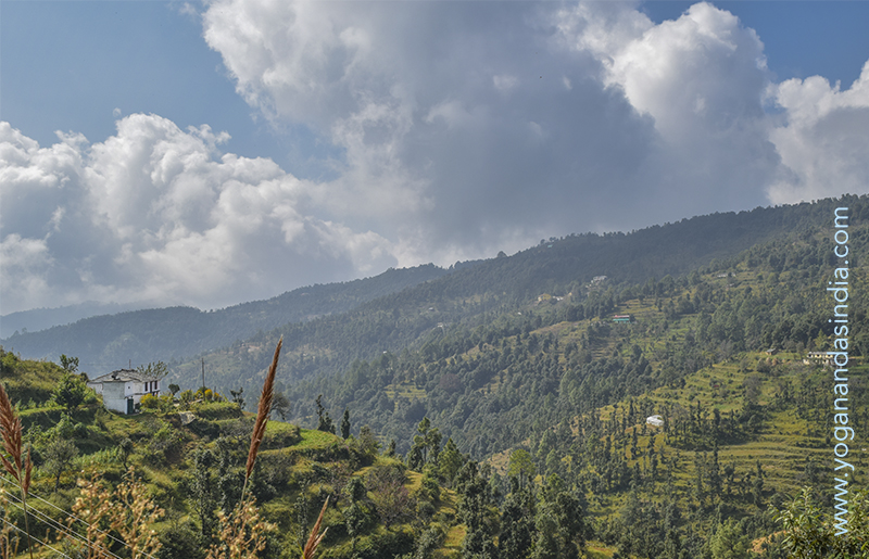Himalayan foothills from the trail to Babaji's cave.