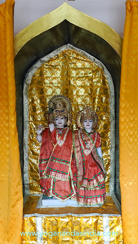 Radha and Krishna shrine in the temple.