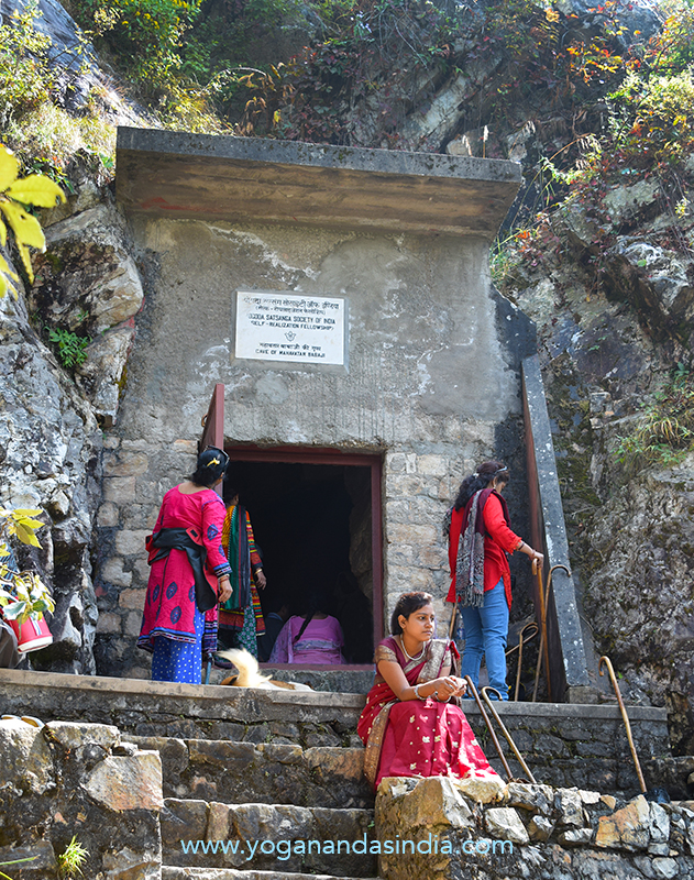 Entrance to the cave honored by SRF/YSS as Babaji's. There are several caves in the area. Daya Mata reported another cave with a very small entrance that may have been where Babaji lived.