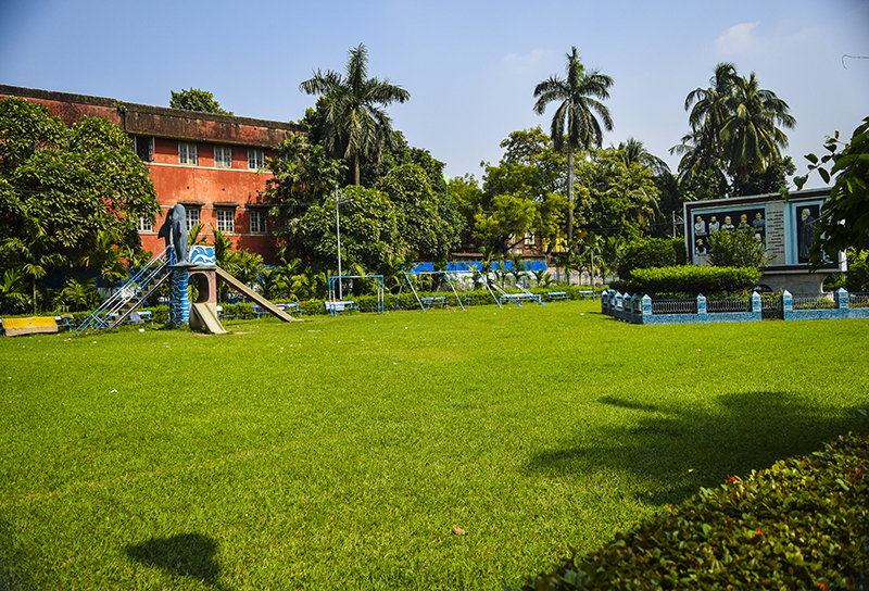 Where Mukunda Lal used to play football with his friends.