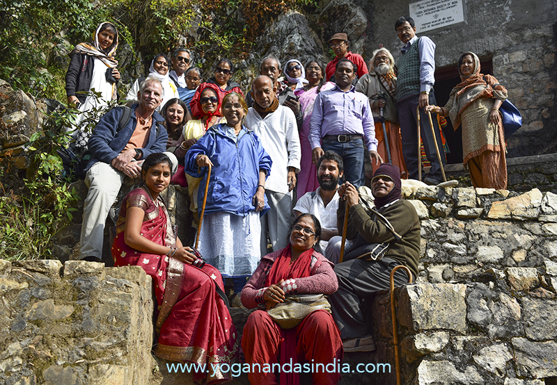 We joined a group of sweet YSS devotees from Kolkata for the pilgrimage to the blessed spot. The whole trek through the majestic sacred mountains and the experience of touching Babaji's presence in his holy cave remain a treasured, sacred memory in our hearts.