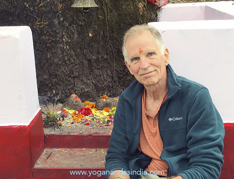 Sitting at this shrine we experienced it as a powerful point of contact with their enlightened consciousness. This temple is one of the most holy places in India, dedicated to Divine Mother, and its sacred spiritual vibrations may be what attracted Babaji to reside in the area, and what led Sri Lahiriji to be exploring this part of the mountains when the two met.