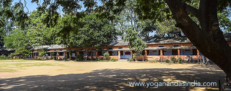 The current YSS boys school, a few miles from the ashram, on 20 acres, where 1000 children from poor families attend.