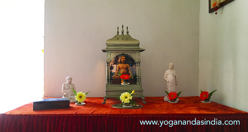 Shrine in Paramahansa Yogananda's room at the school