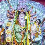 Lahiri Mahasaya chose the most auspicious day and time of Durga Puja (mahashtami, the 8th day of shardiya navaratri festival) for his mahasamadhi (conscious final exit of the body).  After his guru left this world, Sri Yukteswar came every year to Varanasi during Durga Puja to honor Lahiri Mahasaya and commemorate his mahasamadhi.