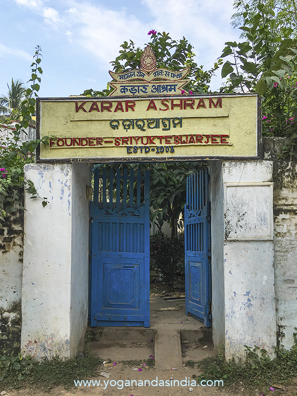 """When he established this seaside hermitage, not yet a swami, he was known as Priyanath Karar Swami. He named his educational center """"Karar Ashram"""". When he became Swami Sriyukteswar, he instructed his residents that the meaning of 'Karar' was 'servant'. While giving satsang (spiritual discourse) he would advise that each individual be a helper or servant to each other."""