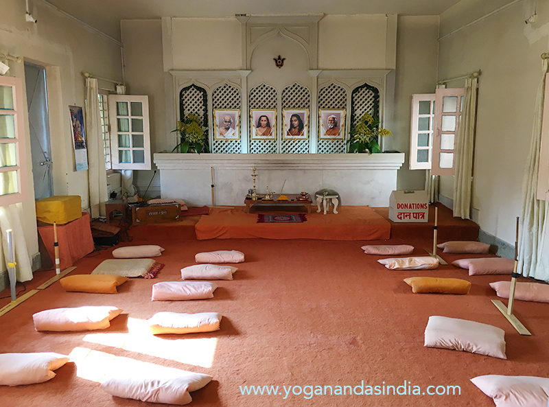 Meditation hall where services are conducted every day.