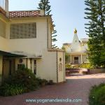 Reception office and dormitories for devotees on retreat.