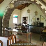Dining hall where three meals cooked by Bhuwan are offered and eaten in silence every day.