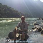 A little above Rishikesh in the Himalayan foothills is Vashishtha guha, a sacred cave where many enlightened yogis have lived and done penance for thousands of years. The magnificent scenic location of the cave, on the banks of the Ganges, is across two hundred meters of boulder strewn river bed.