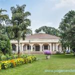 The Ranchi Meditation Hall is the center piece of the beautiful gardens.